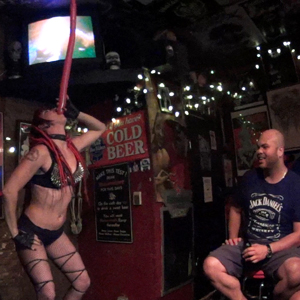 Massachusetts Bachelorette Party Sideshow Performer Connecticut FreakShow Act Rhode Island Glass Walking New Hampshire Bed Of Nails Blockhead Machete Ladder Sword Ladder